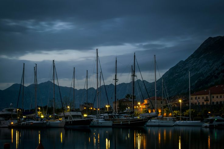 The harbour area of the beautiful Montenegrin village of Kotor, May 2016…