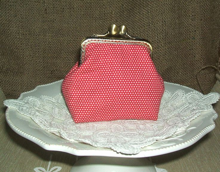 Clutch purse - polka dot