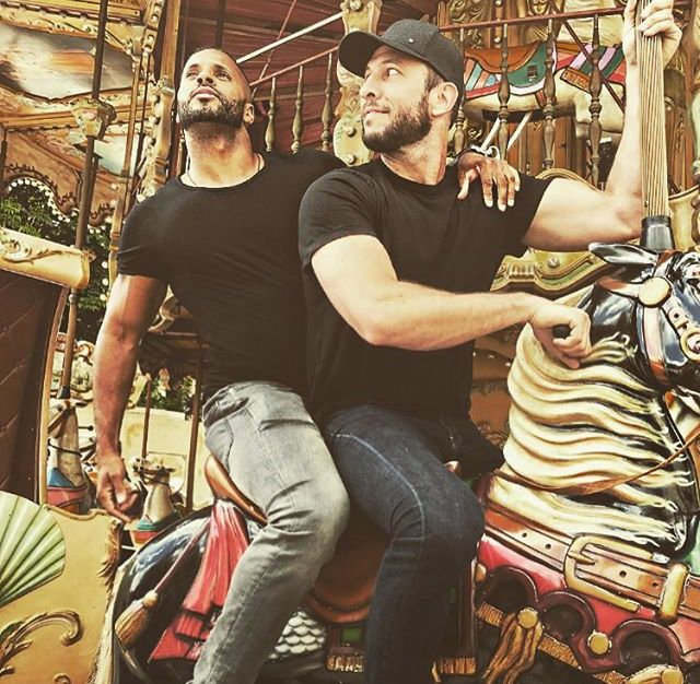 American Gods: Pablo Schreiber and Ricky Whittle (photo via Ricky's Instagram)