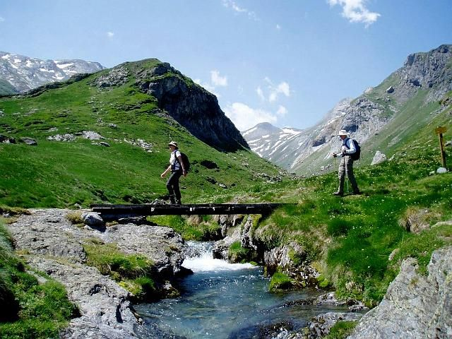 Mountain stream in the Pyrenees