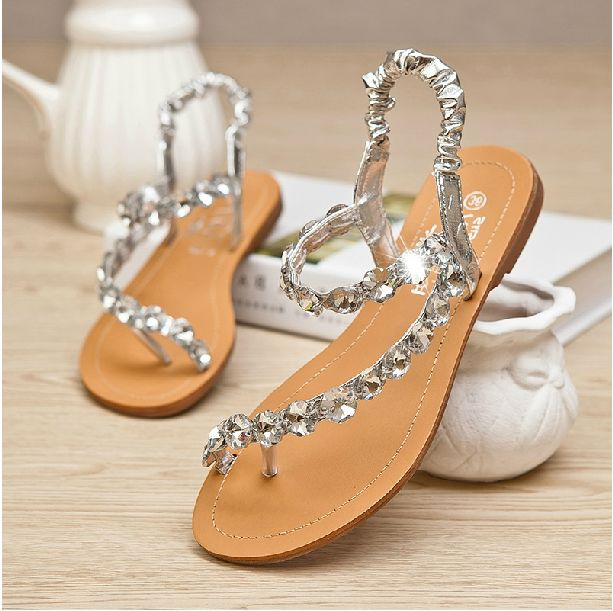 Rhinestone Sandals Shoes Pinterest Wedding Summer