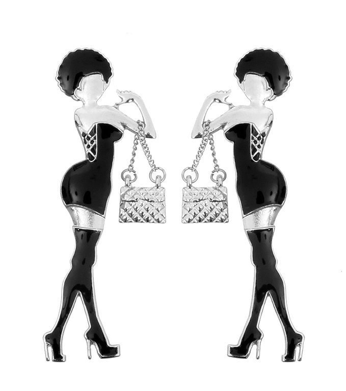 black sexy afro lady w boots u0026 handbag earrings beez afrocentric clothing u0026 accessories