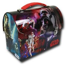 Star Wars Dome Tin School Lunch Box -Red