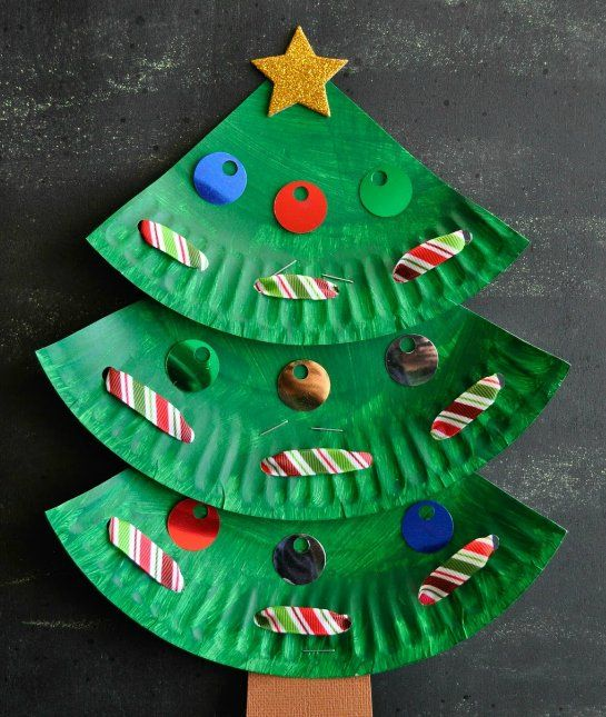 Make This Adorable Christmas Kids Craft Out Of A Paper Plate Add Some Learning Skills Into It By Incorporating Lacing Practice While Decorating Your