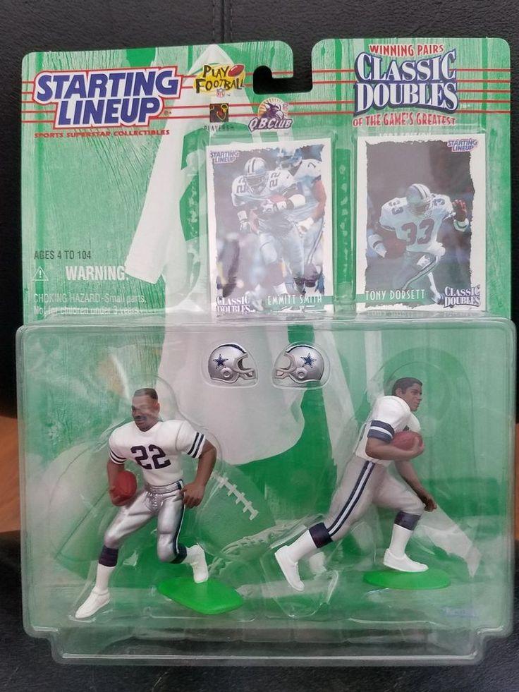 NFL Starting Lineup 1997 Classic Doubles Emmitt Smith Tony Dorsett Football #Kenner