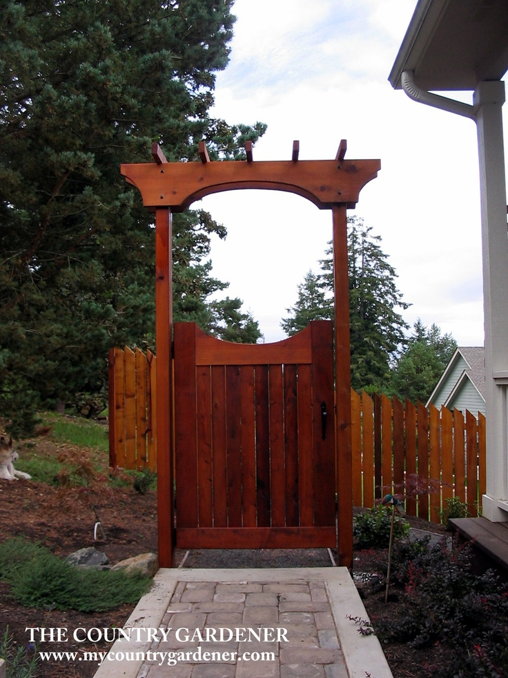 beautiful fence gate arbor