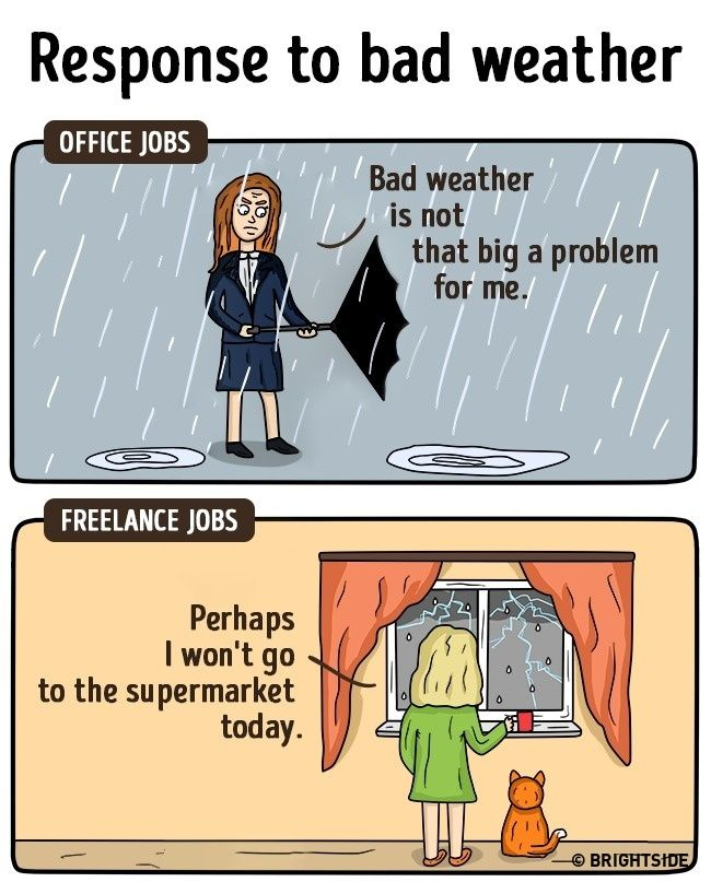 15brilliant comic strips showing how freelance life is different to an office job
