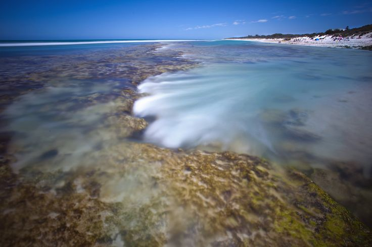 Waves over the reef, Yanchep Lagoon, Western Australia