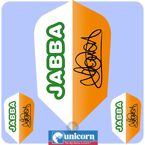 Dart Flights - Unicorn Authentic - Authentic 100 - Slim - Jamie Caven - Jabba - http://www.dartscorner.co.uk/product_info.php?products_id=16631