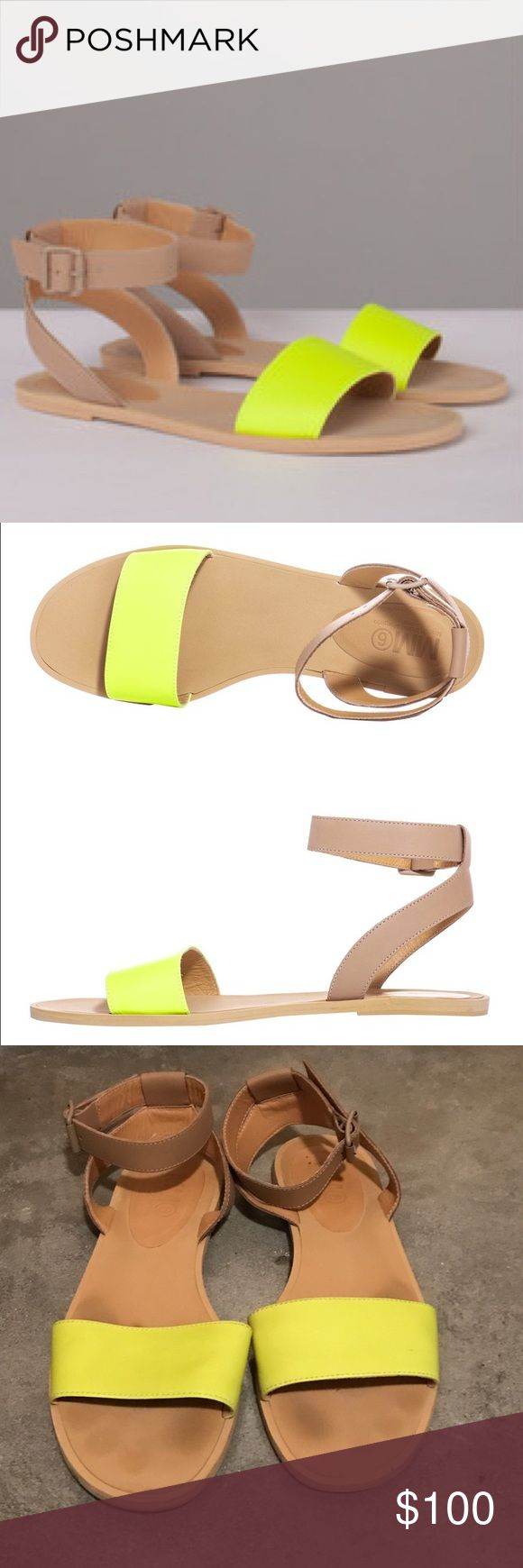 MM6 Martin Margiela Neon Sandals Worn a few times but have been sitting in my closet for the most part. Lots of life left in these babies! Maison Martin Margiela Shoes Sandals
