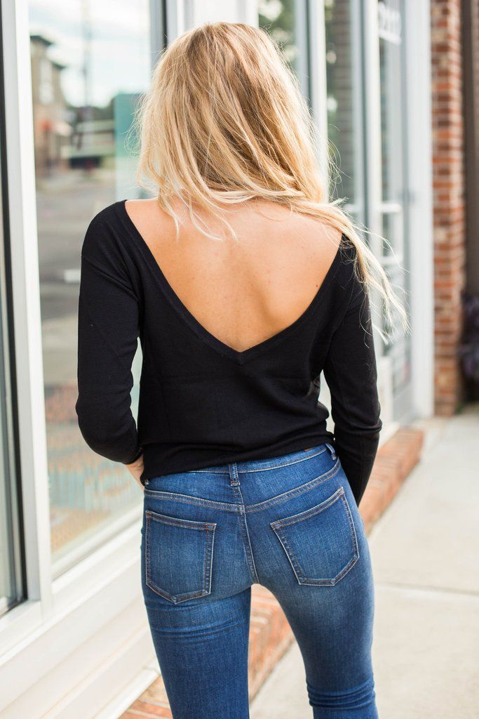 V Back Sweater – Swoon Boutique