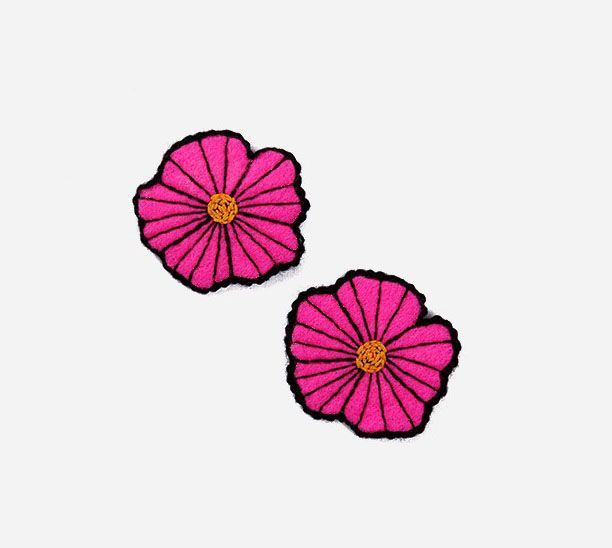 Flower pins by Pita. The Pita Flowers Pins are a fun and lively pair that easily brighten up your outfit for the day. Add that touch dainty floral delight to your overall look with these wee pins! They also make for fun, quirky, and memorable gifts. http://www.zocko.com/z/JJxs7