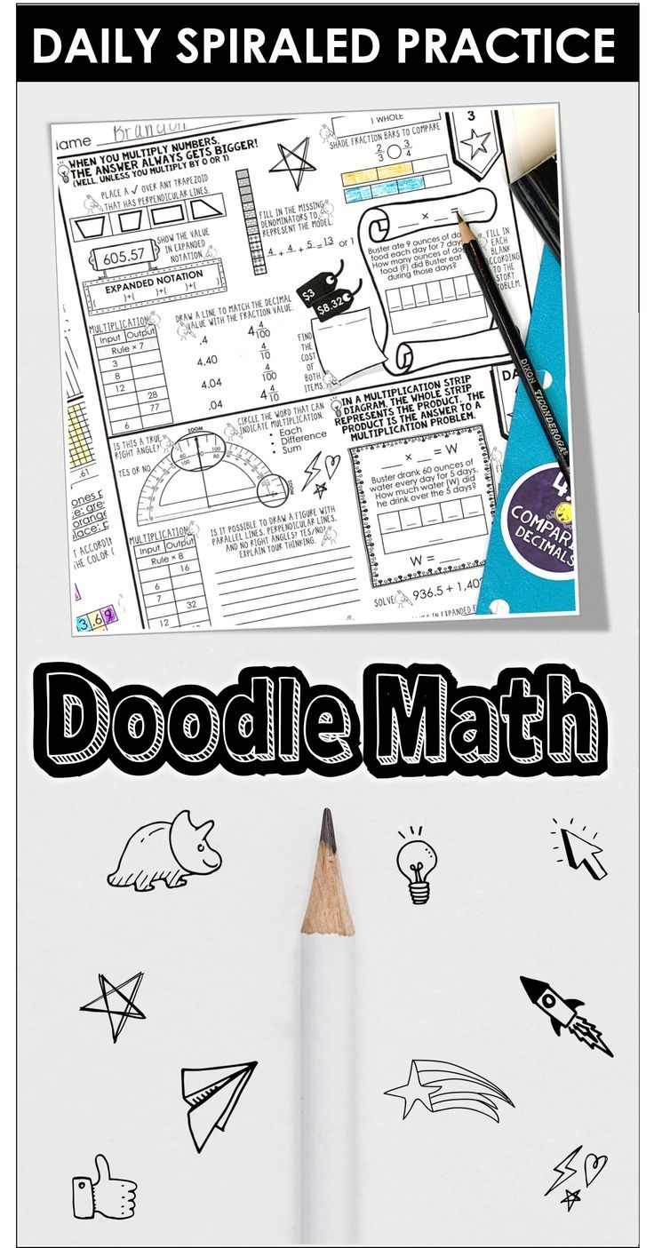 Doodle Math Daily Homework or Warm-up • Cassi Noack   Doodle maths [ 1405 x 736 Pixel ]