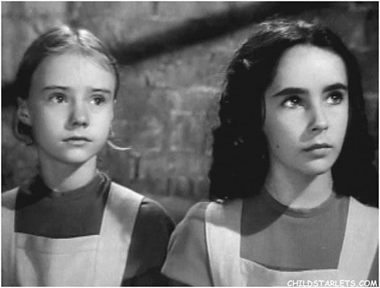 Actresses Elizabeth Taylor and Peggy Ann Garner in Jane Eyre / two of my favorites in one movie.