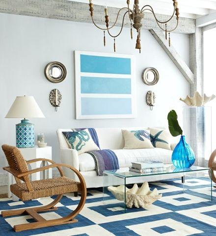 Coastal Decor Ideas, Nautical U0026 Beach Decorating U0026 Crafts: Living Rooms