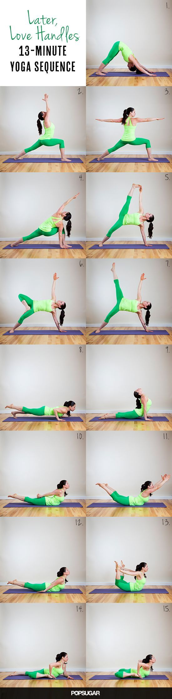Later, Love Handles! 13-Minute Yoga Sequence to Trim Down Your Tummy @Cyndi Price Price Haynes Green