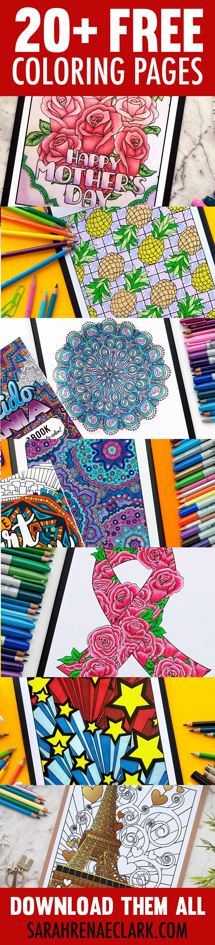 Free coloring pages end of school - 20 Free Coloring Pages For Adults