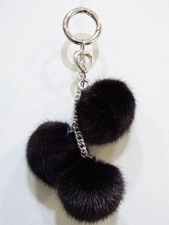 Fur bag pendantfur key ringfur keychainfur mink by FilimegasFurs