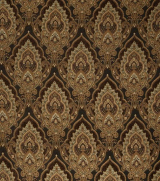 Home Decor Print Fabric-Eaton Square Briefly-Chocolate Floral
