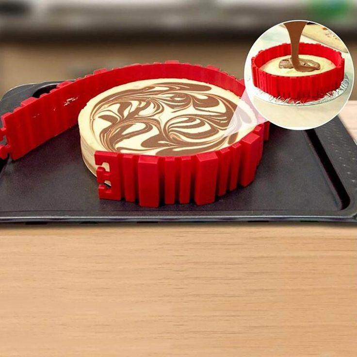4Pcs/set Magic Bake Any Shape Silicone Cake Mold