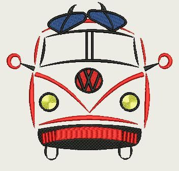 VW Combie Van (small 140x140) by Judean888 on Etsy