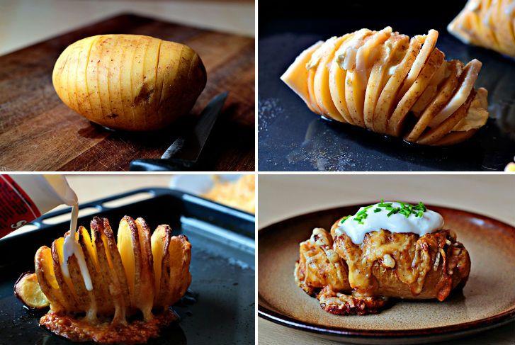 How to Make Scalloped Hasselback Potatoes - Cooking - Handimania