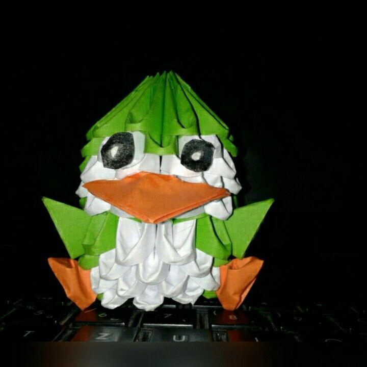 Origami paper owl 3D