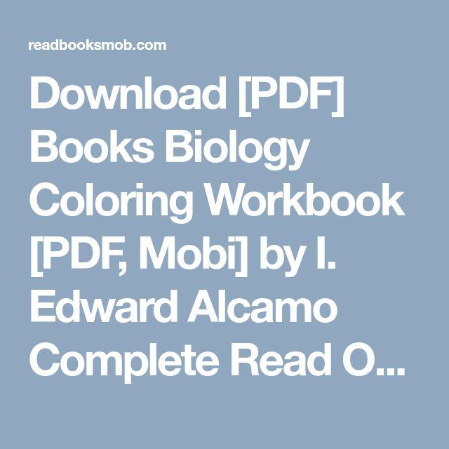 Download PDF Books Biology Coloring Workbook Mobi By I