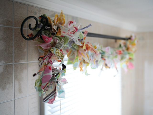 I used left over fabric scraps to make a wreath once...love reducing garbage!