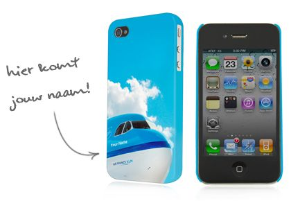 KLM phonecase with your name on an airplane of KLM Royal Dutch Airlines !
