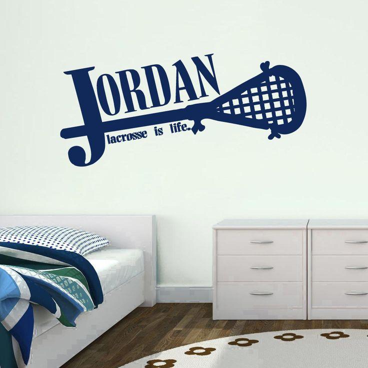 Custom lacrosse name wall decal
