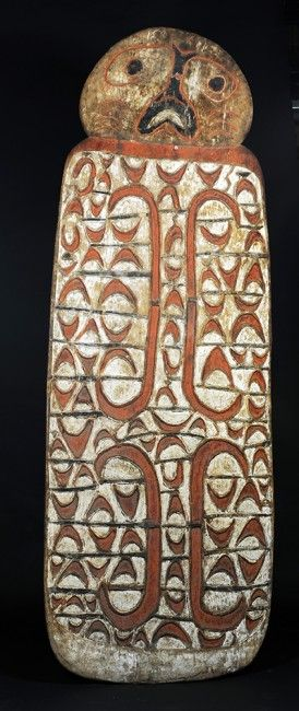 Shield, Wasar River, Western Asmat, West Papua, Indonesia, mid-20th Century wood, paint 189.0 x 64.0 cm