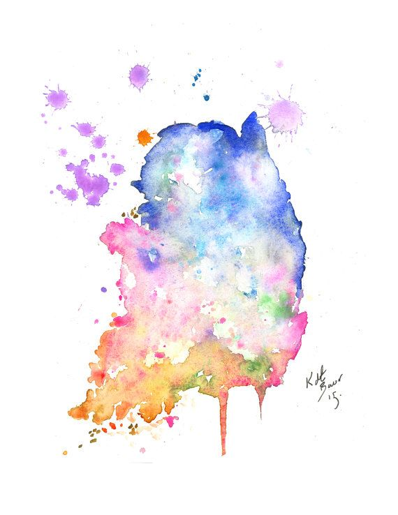 South Korea Map - Print of watercolor illustration map