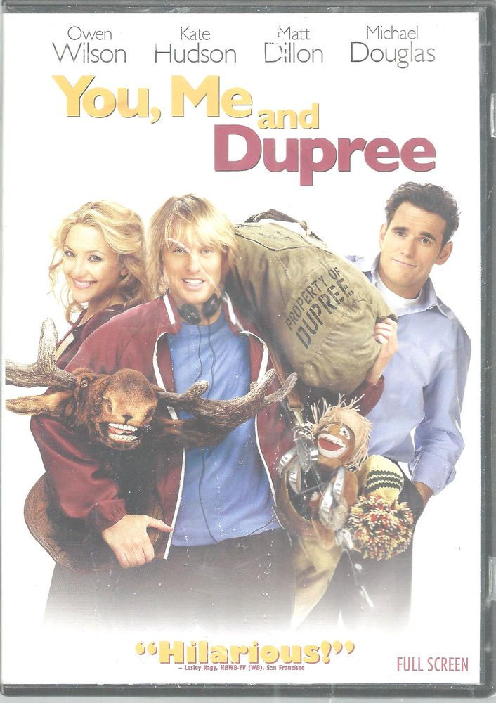 Kate Hudson Matt Dillon You Me and Dupree Owen Wilson DVD 2006 Comedy