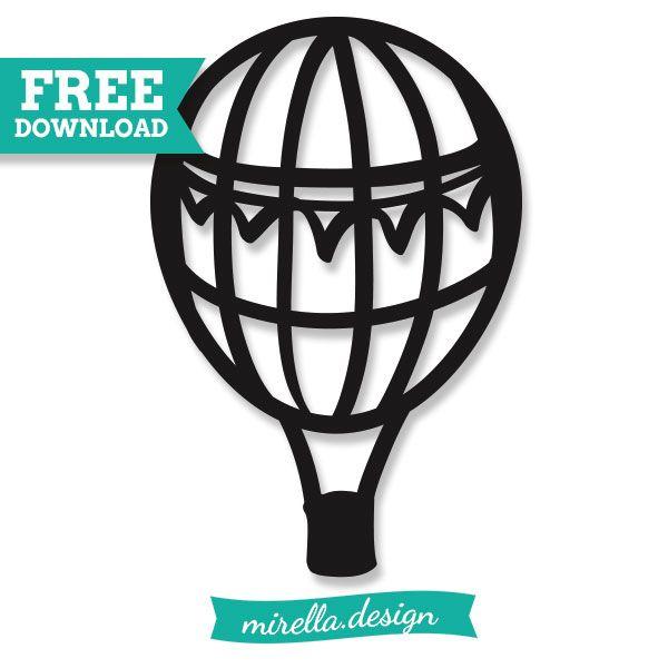 Hot air balloon plotter file freebie Heißluftballon Plotterdatei