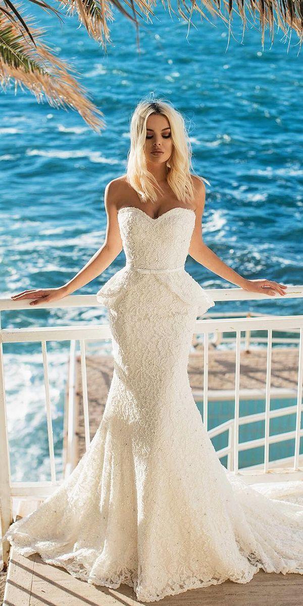 sightly wedding dresses designer beach gown 2017 - 2018