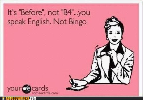Oh I love it.English Language