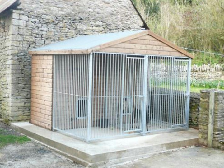 23 best images about dog kennell on pinterest sheds dog for Indoor outdoor dog kennel design