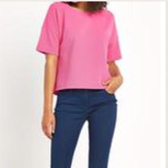 Hot Pink Top size medium, shell top, great with white jeans. Tops