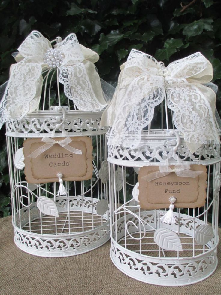wood wedding card holders%0A Set of   Round Metal Vintage Style Birdcages Wedding Card Postbox Honeymoon  Fund Gift Card Holder