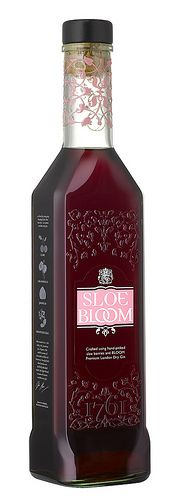 Sloe Bloom Gin - Made by steeping handpicked sloe berries in Bloom London Dry Gin, a floral Gin which uses Chamomile, Pomelo and Honeysuckle as its botanicals. Delciously fruity and uniquely floral.