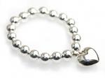 Handmade sterling silver heart bracelet for brides, wedding and formals. Redki Jewellery, Jewelry    www.redki.com.au