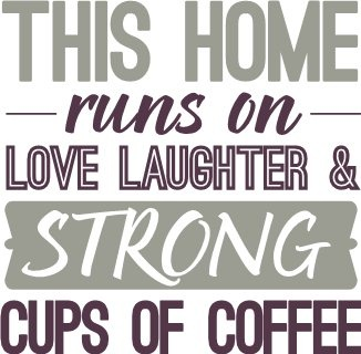 home family coffee uppercase living vinyl lettering in over 55 different colors