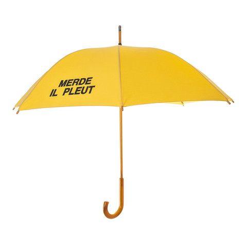 MERDE IL PLEUT Unisex Umbrella - Red