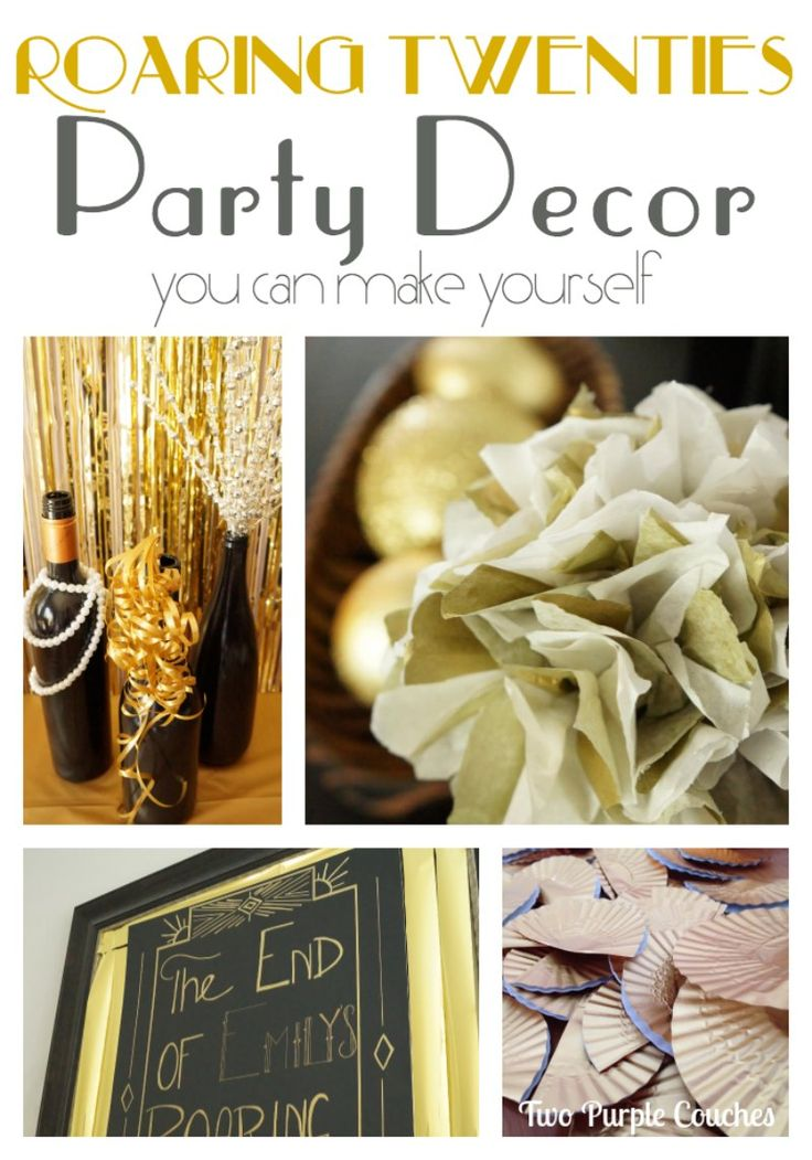 Throw a Roaring Twenties Party for NYE #parties #roaringtwenties #gatsbyparty www.twopurplecouches.com