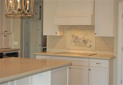 kristi rowland - tile backsplash - hand sculpted