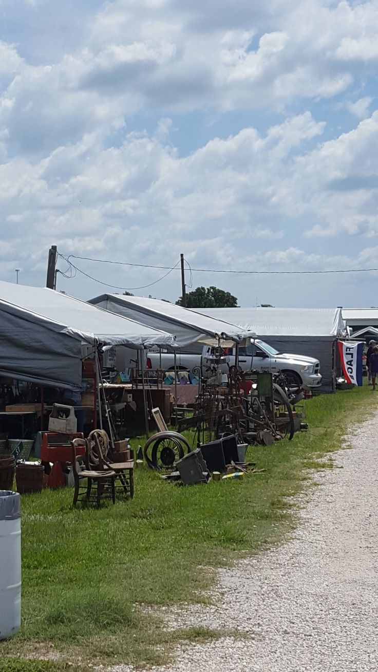 We're at Larry's Old Time Trade Days in Winnie TX. We found some beautiful table legs.  Brad will be designing a table soon!