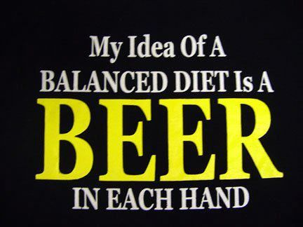 Beer, part of a balanced breakfast