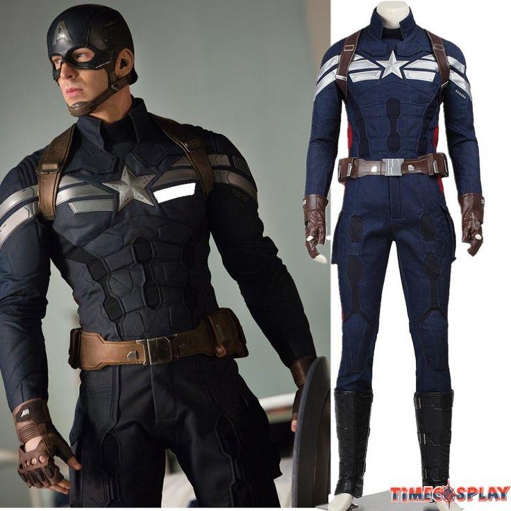 Captain America 2 The Winter Soldier Captain America Steve Rogers Cosplay Original Costume