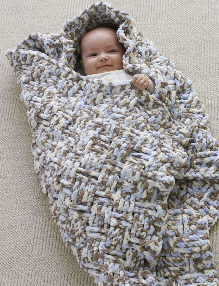Dreamy Basket Weave Baby Blanket Pattern